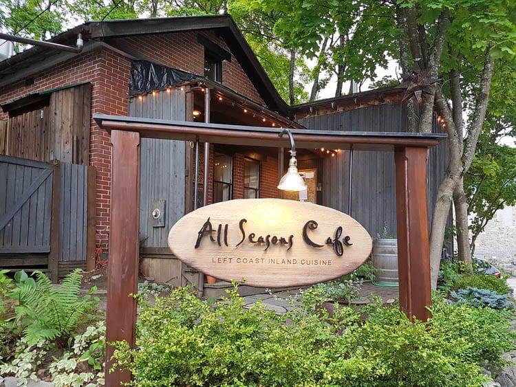 All Seasons Cafe sign