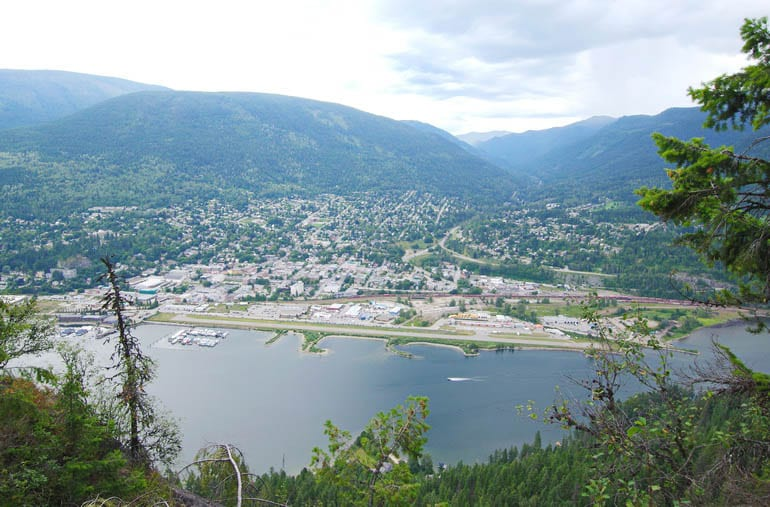 The view of Nelson, BC from Pulpit Rock