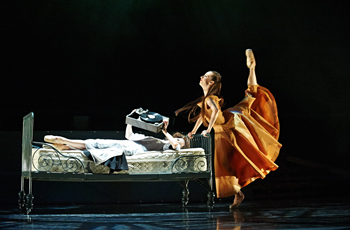 Dancers on stage in a local theatre production.