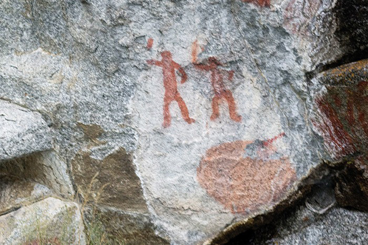 Pictographs on the shores of Kootenay Lake.