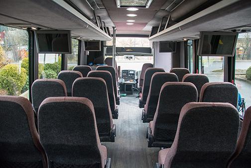 Inside Of Spokane Shuttle Bus Queen City