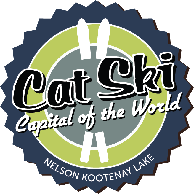 Cat Ski Capital of the World badge, for Nelson and Kootenay Lake.