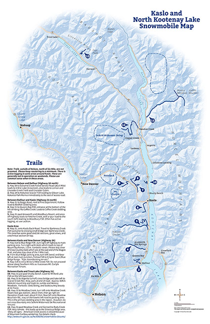 Kaslo Trail Map
