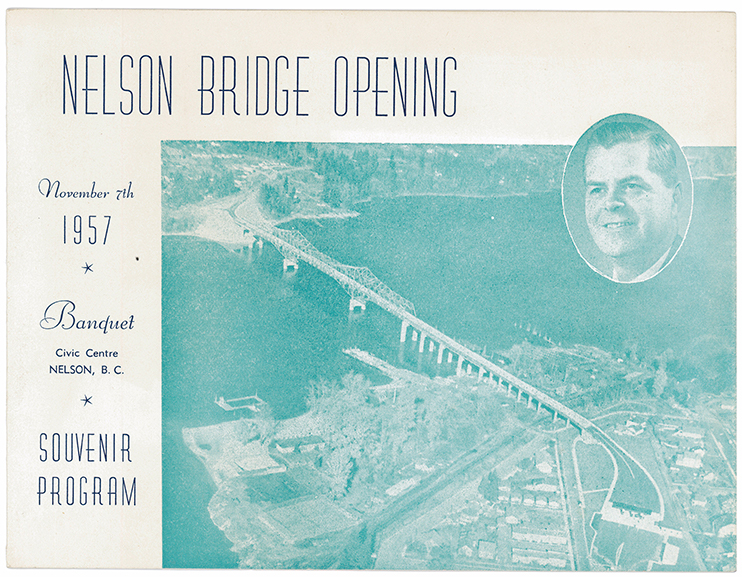 Program from the Nelson bridge opening in 1957.