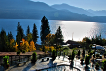 Ainsworth Hot Springs Resort in the fall.