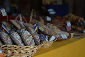 Freshly baked breads at the Cottonwood market.