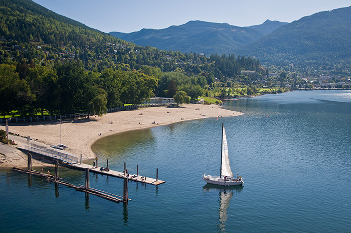 Rotary Lakeside Park in Nelson British Columbia on Kootenay Lake.