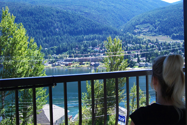 The vew of Kootenay Lake from the North Shore Inn.