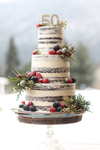 Wedding cake Nelson Kootenay Lake