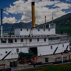 The historic SS Moyie in Kaslo, BC