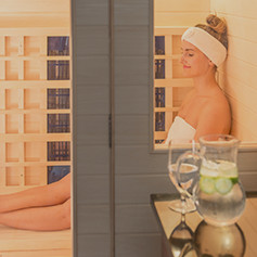 A girl enjoying the Spa and Aura Salon and Spa.