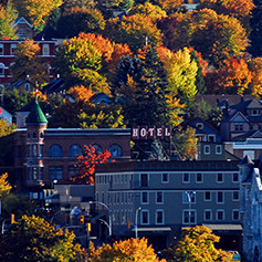 Hume Hotel in the fall