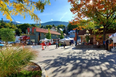 Market season in Nelson, B.C.