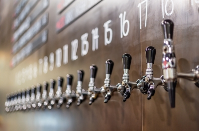 the taps at Torchlight Brewing Co.