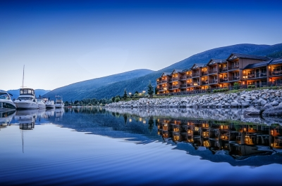 Prestige Lakside Resort situated on Kootenay Lake in Nelson, BC