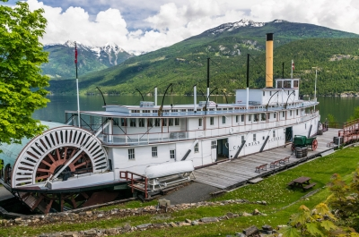 The SS Moyie National Historic Site in Kaslo, BC.