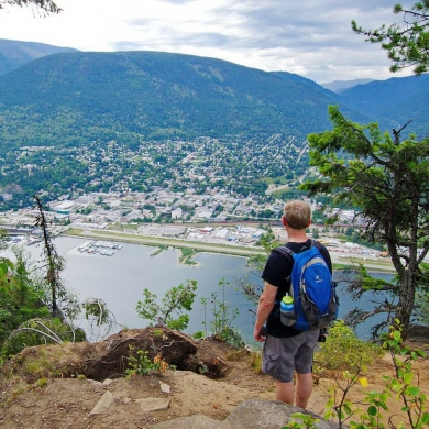 The view from Pulpit Rock above Nelson, BC, with lots to do in 24 hours