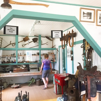 Some historic artifacts inside the Lardeau Valley Museum