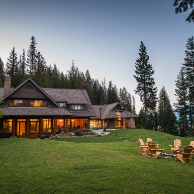 The lodge at the Mountain Trek Fitness Retreat near Nelson BC