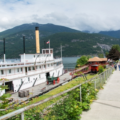 SS Moyie in Kaslo BC, a great rainy day attraction