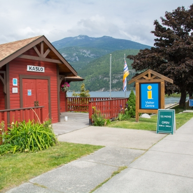 The Visitor Information Centre in Kaslo, BC