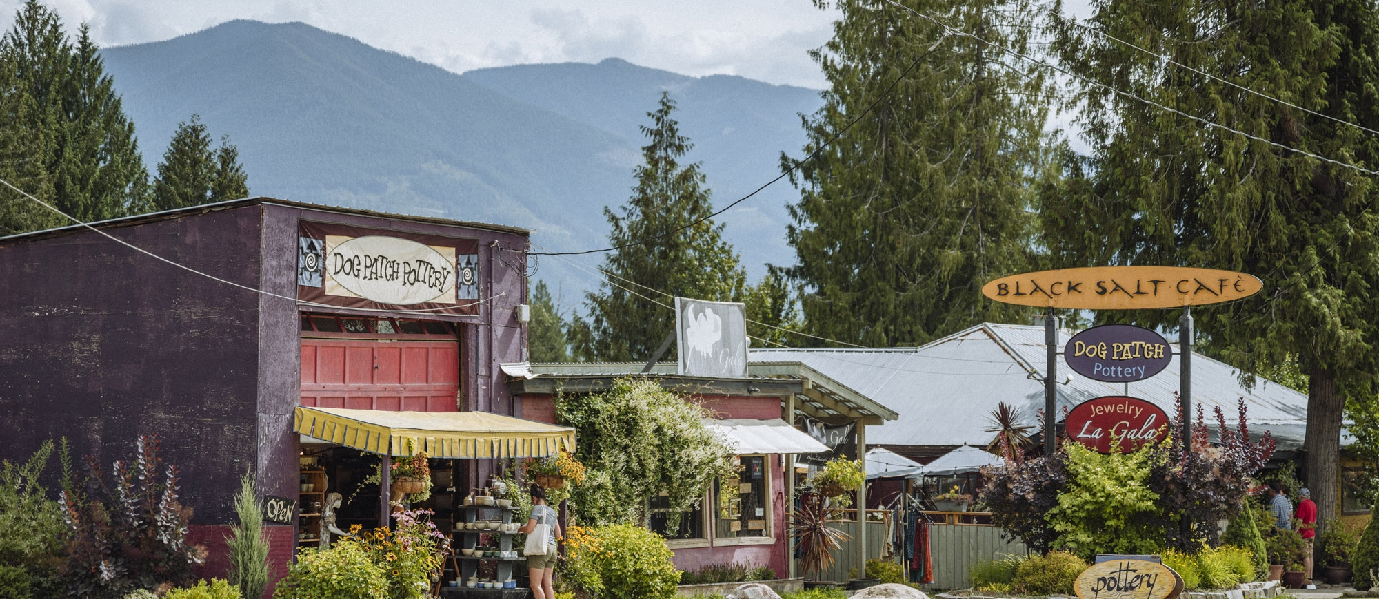 Artisan shops in the Village of Crawford Bay, BC