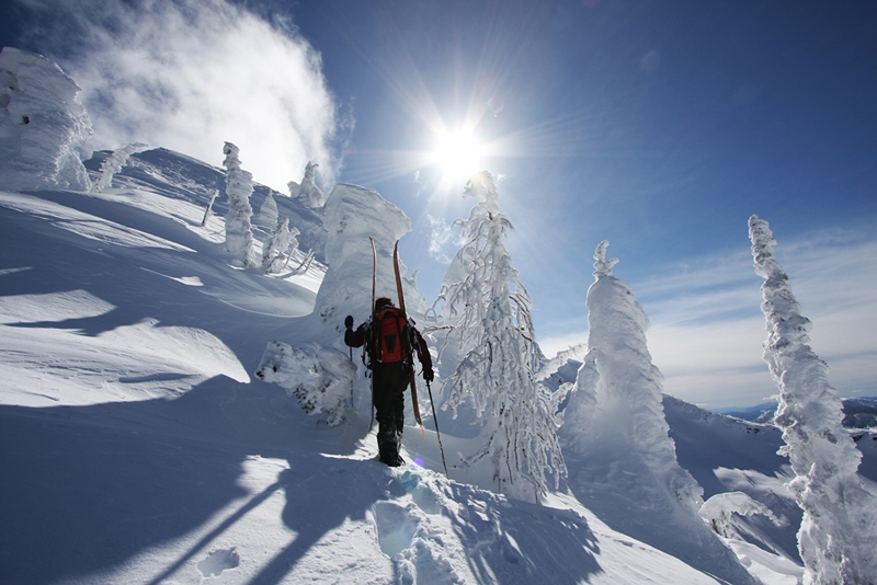 Ski Touring Whitewater's Backcountry, Photographer Douglas Noblet