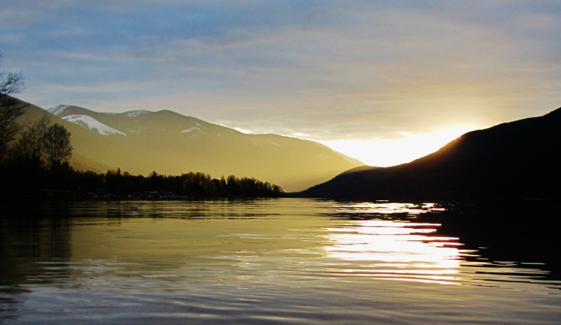 Sunset over Kootenay Lake, Photographer Shelley Dawson