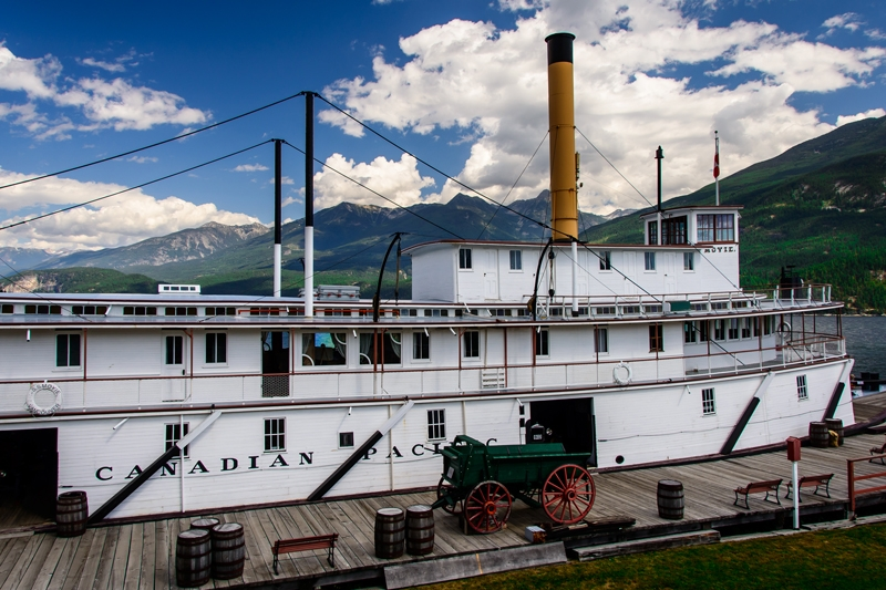 The historic SS Moyie in Kaslo BC, Photographer Dan Power