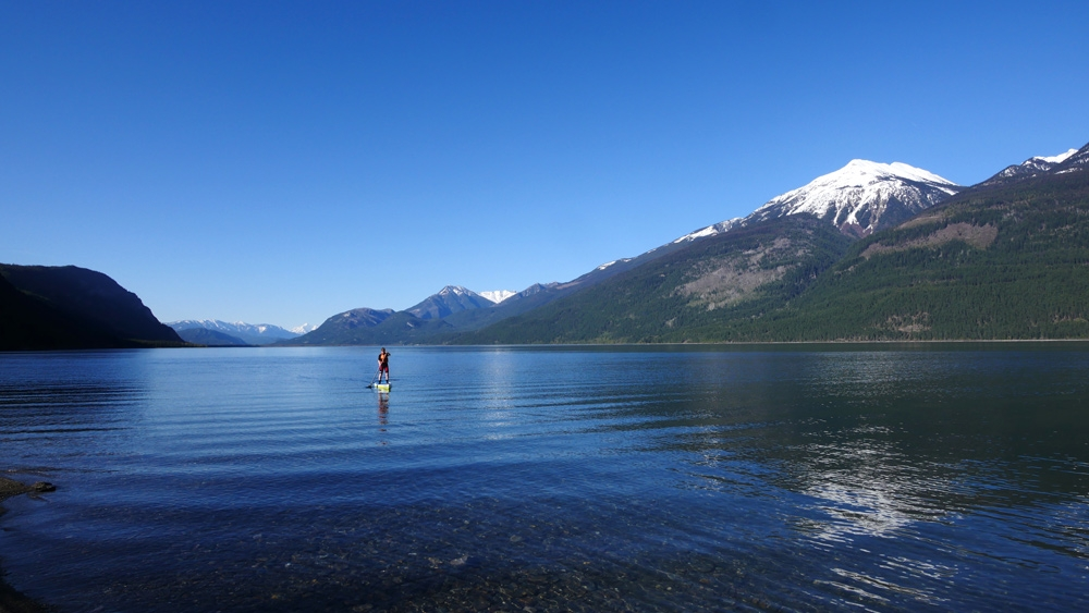 Paddle  boarding on Kootenay Lake