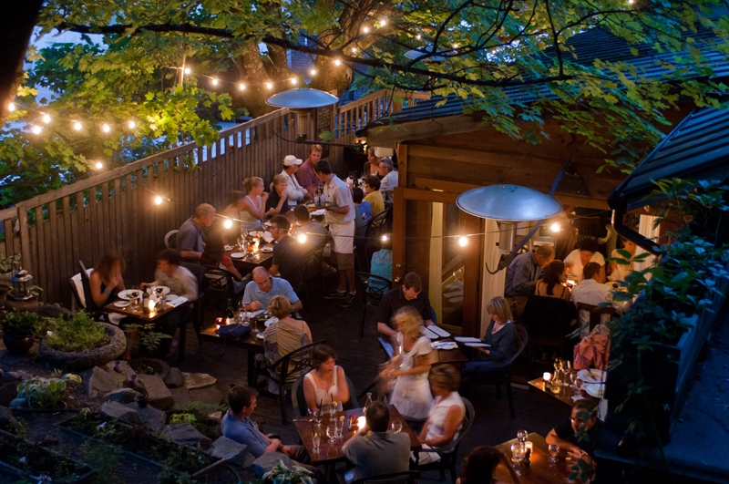 The All Seasons Restaurant's outdoor patio, Photographer David Glunns