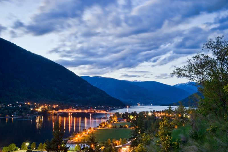 Magnificent view over Lakeside Park in Nelson BC, Photographer David Gluns
