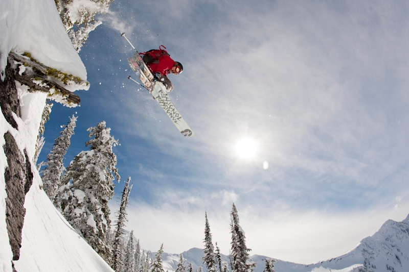 Alpine Skiing in Whitewater's backcountry, Photographer Doug LePage