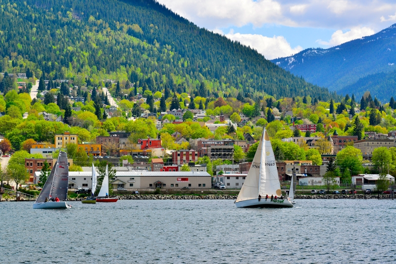 Sailing on Kootenay Lake, Nelson BC