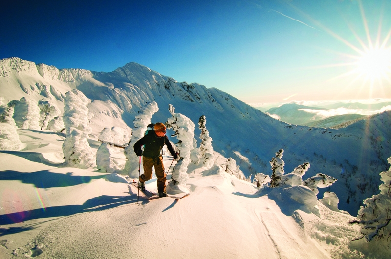 Ski touring Whitewater's backcountry, Photographer Kari Medig
