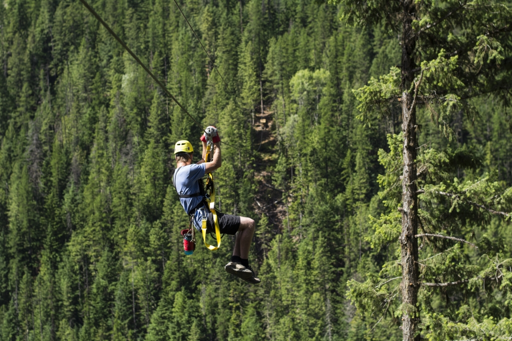 Kokanee Mountain Zipline. Photo: Janneke Guenther