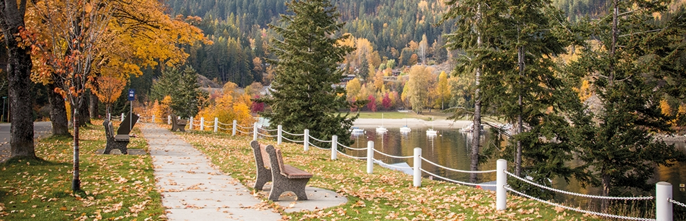 Kaslo, BC in the fall.