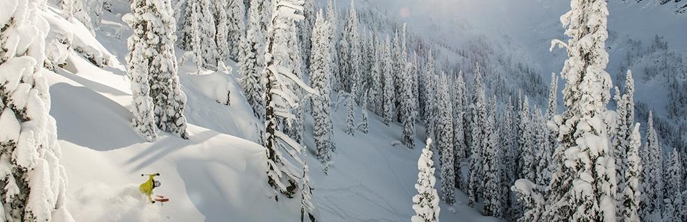 A downhill skier at Whitewater Ski Resort.