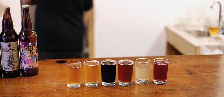 A flight of beer form Torchlight Nelson.