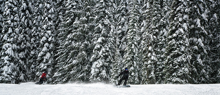 Skiers at Whitewater Ski Resort