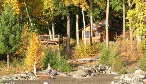 Kootenai Hide-A-Way Lakefront Cabin