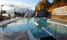 Ainsworth Hot Springs Resort pool and teepee