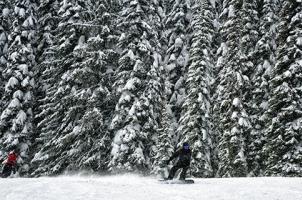 Skiers at Whitewater Ski Resort