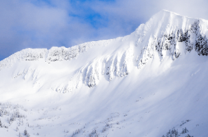 Ymir Peak above Whitewater Ski Resort in Nelson, BC
